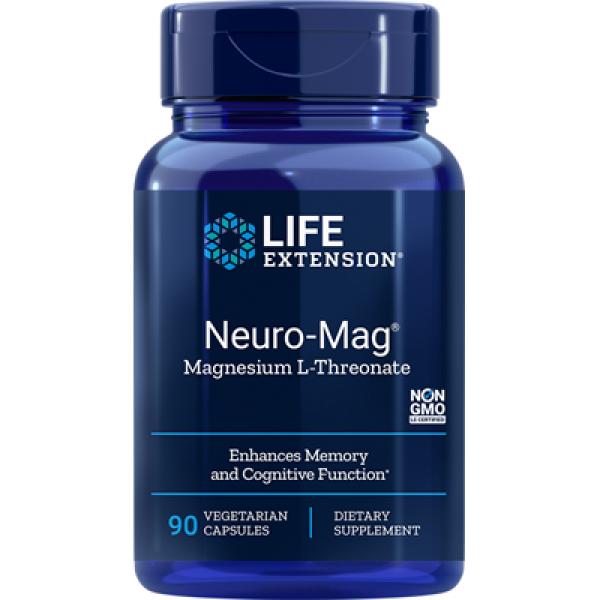 Life Extension: Neuro-Mag (90 kapsler) / Magnesium er en kofaktor for mer enn 300 biokjemiske reaksjoner i kroppen Bidrar til å vedlikeholde hukommelsen Nødvendig for normal hjernefunksjon