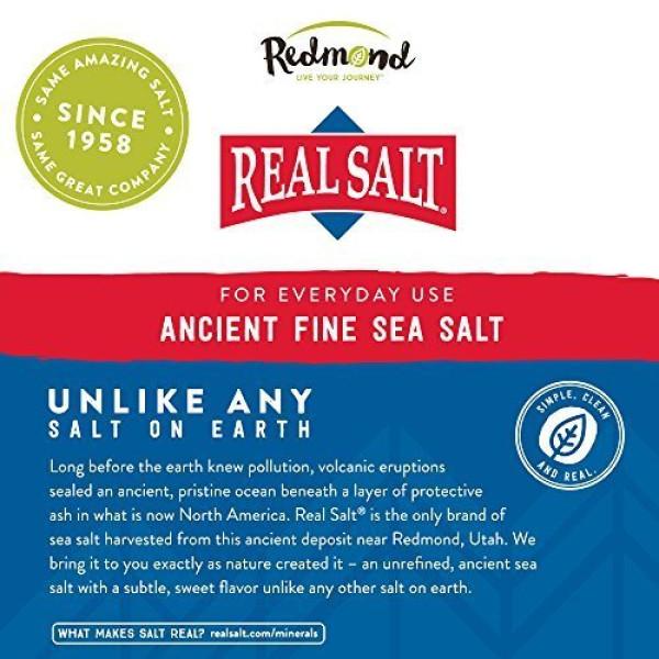Redmond: Real Salt (737 g) / Bruker du ekte salt? Real Salt betyr – vel, ekte, autentisk salt. Et raskt blikk på etiketten til de fleste saltmerker kan komme til å overraske deg! Mange inneholder antiklumpemidler og til og med sukker. Andre er blitt varmebehandlet og frarøvet sine naturlige sporstoffer. Real Salt er på den annen side uraffinerte og fullt av naturlige mineraler og smak – akkurat slik salt var ment å skulle nytes.