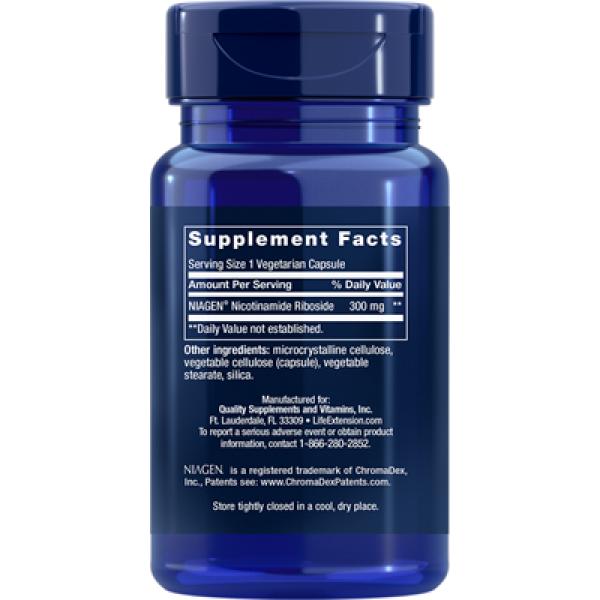 Life Extension: NAD+ Celleregenerator 300 mg (30 kapsler) / Støtter cellestoffskiftet, gir økt vitalitet og motvirker aldring.