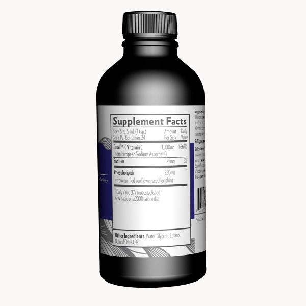 Quicksilver Scientific: Liposomal vitamin C (120 ml) / Effektiv antioksidant Opptaket starter allerede i munnen Muliggjør høy dosering uten intravenøs tilførsel