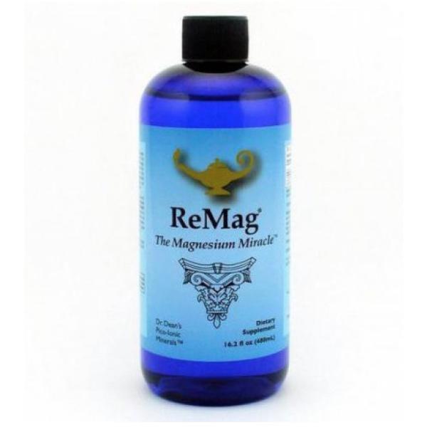Dr. Dean's: ReMag magnesiumoppløsning (480 ml) / Dr. Dean's Pico Meter Magnesium - 480 ml flaske Aktiverer 700-800 kroppsenzym-systemer 100% absorbert på cellenivå Ingen lakserende effekt
