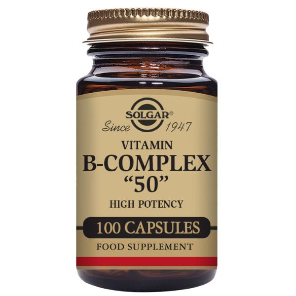 Solgar: Vitamin B-kompleks (100 kapsler) / Høypotent B-Vitamin kompleks til hjelp for å frigjøre energi fra mat Støtter mental prestasjon Støtter reduksjon av tretthet og utmattelse Perfekt for de med travel eller aktiv livsstil Vegansk, Vegetarisk, Kosher