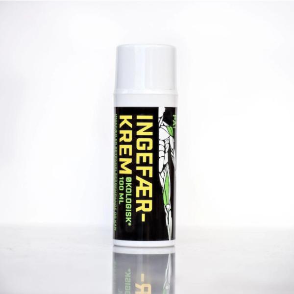 Helsekjelda: Ingefærkrem (100 ml) / økologisk utviklet og produsert i Norge i samråd med lege ved å smøre ingefærkrem direkte på vonde muskler og ledd, kan en oppleve snarlig lindring
