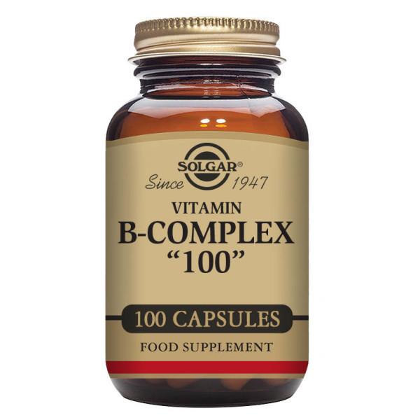 Solgar: Vitamin B-kompleks (100 kapsler) / Høypotent vitamin B-kompleks til hjelp for å frigjøre energi fra mat B-vitaminer er nødvendig for mental ytelse Motvirker tretthet og utmattelse Perfekt for alle med travel eller aktiv livsstil
