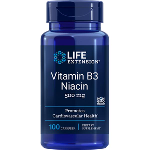 Life Extension: Vitamin B3 niacin 500 mg (100 kapsler) / Mange B-vitaminer brukes i kroppen i kombinasjon med enzymer for blant annet å danne energimolekylet ATP ved nedbryting av glukose, fettsyrer og aminosyrer. Vitamin B fungerer som koenzym (stoffer som aktiverer enzymer) og er avgjørende for å generere de energimolekylene som trengs av hver celle i kroppen. Omdanning av energigivende molekyler slik at de frigir ATP foregår som regel i flere ledd og krever derfor flere kofaktorer som samvirker. Derfor kan mangel på ett B-vitamin påvirke funksjonen til organsystemer i hele kroppen.