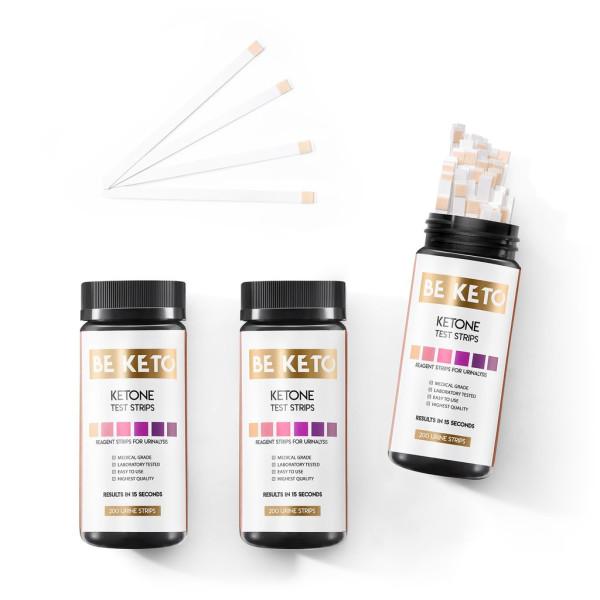 Be Keto: Ketose teststrimler (200 stk) / BeKeto™ teststrimler måler om du er i ketose. Testen er basert på ketoner i urinen.