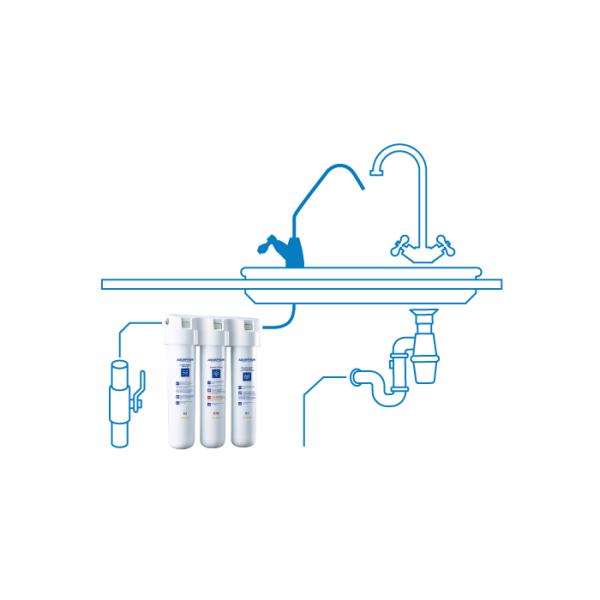 Aquaphor: Crystal ECO - vannfiltersystem til under benk, inkl. kran / Crystal ECO gjør drikkevannet trygt selv for barn, allergikere og eldre. Det har følgende egenskaper: Gir krystallklart vann Beskytter mot bakterier og andre mikroorganismer Renser kranvann effektivt Sparer penger ved at du slipper å kjøpe flaskevann Miljøvennlig