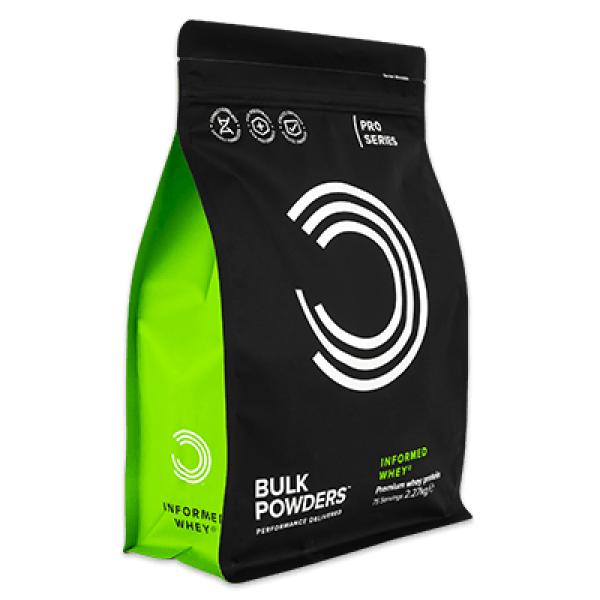 Bulk Powders: Informed WHEY, proteinpulver (900g) / Med deilig sjokoladesmak Myseproteinisolat, Leucin, DigeZyme® og LactoSpore®. Garantert 81% proteininnhold som fremmer muskelvekst