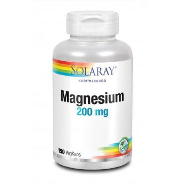 Solaray: Magnesium (60 og 150 kapsler) / For normal hjerte- og muskelfunksjon. Reduserer tretthet og slapphet. Organisk magnesiumtilskudd med urter.