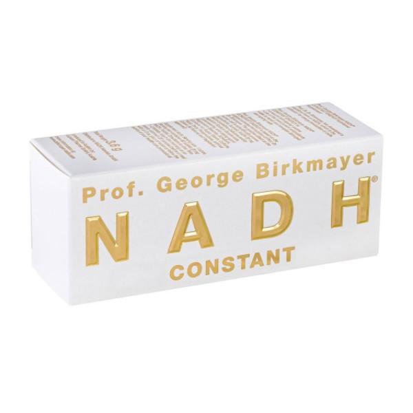 NADH Constant, langtidsvirkende (60 tabletter) / NADHs viktigste fysiologiske funksjoner i kroppen: NADH øker energien i hjertecellene. NADH reparerer DNA og regenererer skadede celler. NADH er en av de mest potente antioksidantene. NADH har vist seg å senke både kolesterolet og høyt blodtrykk. NADH styrker immunforsvaret. NADH stimulerer til produksjon av dopamin og serotonin. NADH stimulerer produksjonen av nitrogenoksid, og forbedrer blodsirkulasjonen, særlig i hjertet og hjernen.