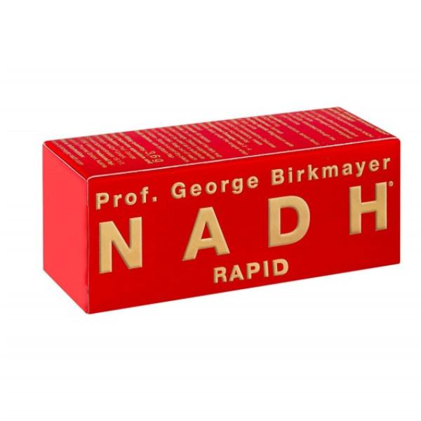 NADH Rapid, hurtigvirkende (60 tabletter) / NADHs viktigste fysiologiske funksjoner i kroppen: NADH øker energien i hjertecellene. NADH reparerer DNA og regenererer skadede celler. NADH er en av de mest potente antioksidantene. NADH har vist seg å senke både kolesterolet og høyt blodtrykk. NADH styrker immunforsvaret. NADH stimulerer til produksjon av dopamin og serotonin. NADH stimulerer produksjonen av nitrogenoksid, og forbedrer blodsirkulasjonen, særlig i hjertet og hjernen.