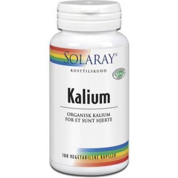 Solaray: Kalium (100 kapsler) / God for væskebalansen i kroppen. Organisk bundet kalium med synergistiske, mineralrike urter for godt opptak og virkning.
