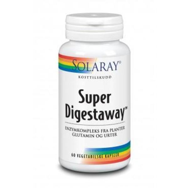 Solaray: Super Digestaway (60 kapsler) / Plantebasert enzymkompleks med ingefærrot, papayablad, rødalmbark, marshmallowrot og aloe vera.