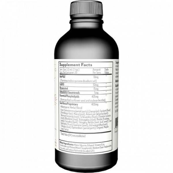 Quicksilver Scientific: The One - liposomalt energitilskudd (100 ml) / Unik liposomal energiforsterkende formel som bidrar til bedre mitokondria-funksjon. Den ene (The One) er en unik og kraftig liposomal blanding, som består av mitokondrie-superstoffene PQQ, Q10, resveratrol, tokotrienole, og en balansert blanding av ikke mindre enn nitten forskjellige urter som virker revitaliserende og energigivende.