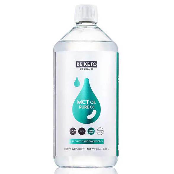 Be Keto: MCT-olje, C8 (1000 ml) / Be Keto MCT-olje er lagd av høyest kvalitet kokosnøttolje og gir deg en ekstra dose av energimolekylet ATP for din hjerne. Ren C8!