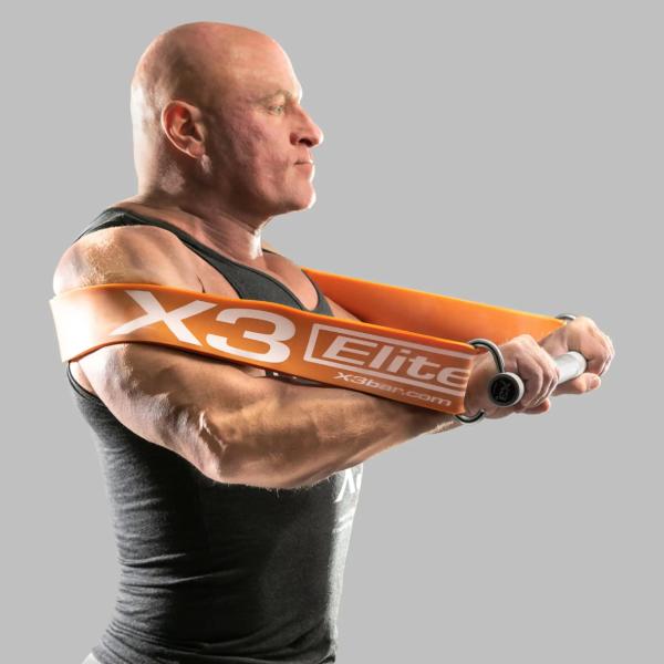 Jaquish Biomedical: Ekstra tungt treningsbånd til X3 Elite / Treningsbånd for profesjonelle utøvere: Dette elastiske båndet er verdens tøffeste! Båndet kan gi mer enn 272 kg maksimal motstand fullt strukket ut. Mer belastning på musklene betyr økt muskelvekst! De som kan dokumentere at de klarer å utføre minst 15 repetisjonermed dette båndet, får en gave fra vår nettbutikk til en verdi av kr 350!