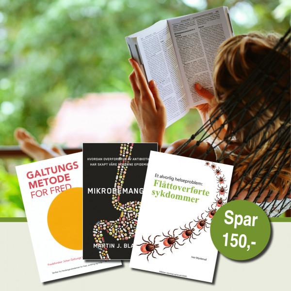Bokpakke - 3 bøker! / Nå er det sol og sommer, og da er det deilig å slenge seg på solsenga eller i godstolen med en bok. Akkurat nå kan du sikre deg tre bøker og spare 33%!