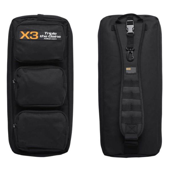 Jacquish Biomedical: Bag til X3 / Bag til X3 Elite gjør det enkelt å ta med deg X3, så du kan trene hvor som helst. Rommer X3 bakkeplate, alle X3-båndene, inkludert det oransje båndet (ekstrautstyr) samt X3-stanga. Premium YKK glidlås
