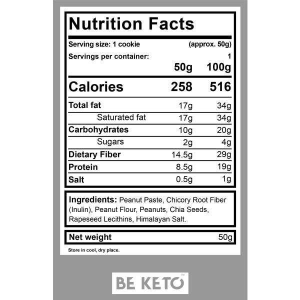 Be Keto: Kjeks med peanøttsmørsmak (3x50 g) / BeKeto Cookies er sunne og deilige! Kjeksene er en perfekt matbit for å tilfredsstille dine ønsker, spesielt på grunn av organisk mandelmel og lavt innhold av karbohydrater. Perfekt til morgenkaffe, lunsjpause eller dessert. Bekymret for ketose? Med denne fantastiske snacken trenger du ikke å være det! Selges i 3-pakning!